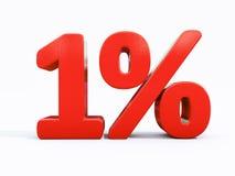减速火箭的红色百分号 免版税库存图片
