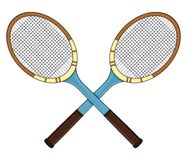 减速火箭的网球拍 免版税图库摄影