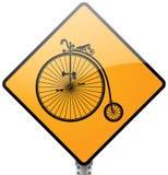减速火箭的自行车标志 图库摄影