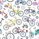 减速火箭的自行车葡萄酒传染媒介古板的逗人喜爱的行家运输乘驾车骑自行车夏天运输例证 免版税库存图片