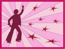 减速火箭的舞蹈演员 库存照片