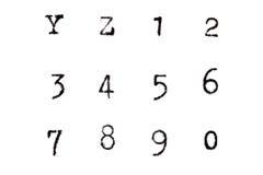 减速火箭的葡萄酒字母表,集合3 免版税库存照片