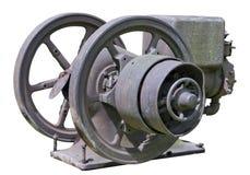 减速火箭的葡萄酒生锈的柴油引擎 免版税库存照片