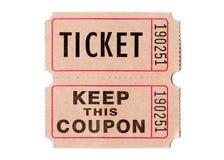 减速火箭的葡萄酒票和优惠券 库存照片