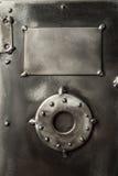 减速火箭的被称呼的安全箱子门 库存照片