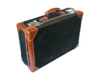减速火箭的被称呼的手提箱 免版税图库摄影