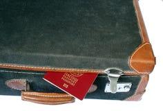减速火箭的被称呼的手提箱 免版税库存图片