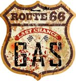 减速火箭的路线66加油站 皇族释放例证