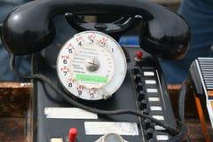 减速火箭的轮循拨号电话 免版税图库摄影