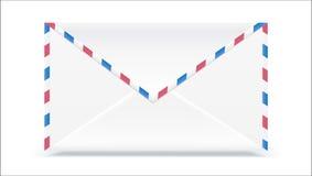 减速火箭的邮件信封 塑造与被隔绝的纹理作用对白色背景 传染媒介3D例证,为印刷品准备 库存图片