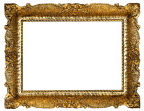 减速火箭的金框架 库存照片