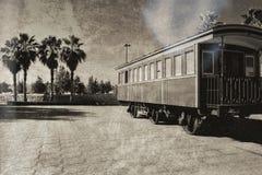 减速火箭的铁路支架在以色列 免版税图库摄影