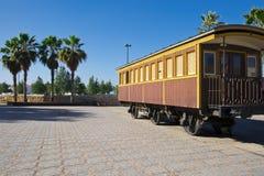 减速火箭的铁路支架在以色列 免版税库存照片