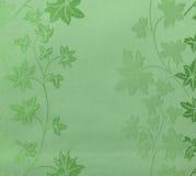 减速火箭的鞋带花卉无缝的样式绿色织品背景葡萄酒样式 库存照片