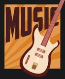 减速火箭的音乐,海报设计,传染媒介例证 库存例证