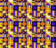 减速火箭的颜色几何模式 免版税库存照片