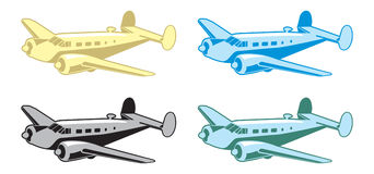 减速火箭的飞机 免版税库存照片