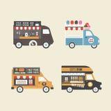 减速火箭的食物卡车 免版税图库摄影