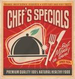 减速火箭的餐馆菜单模板 库存图片
