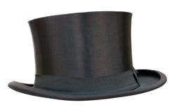 减速火箭的高顶丝质礼帽 免版税库存照片