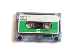 减速火箭的绿色标签协定卡式磁带 库存照片