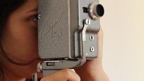 减速火箭的8mm影片照相机 影视素材