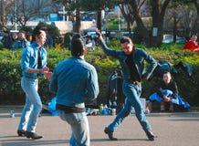 减速火箭的rockabilly舞蹈 免版税库存照片