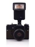 减速火箭的SLR照相机 库存图片