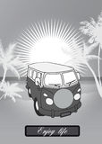 减速火箭的van background 免版税库存图片