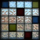 减速火箭砖的玻璃 免版税库存照片