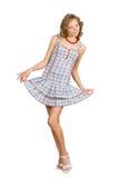 减速火箭礼服的女孩 免版税图库摄影