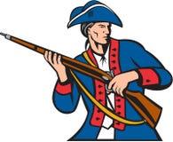 减速火箭美国爱国者民兵的步枪 免版税库存照片