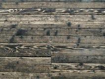 减速火箭老破旧的木的地板纹理  免版税库存图片