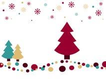 减速火箭背景的圣诞节 库存照片