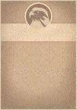 减速火箭背景的白头鹰 免版税图库摄影