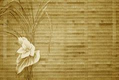 减速火箭背景花卉的金子 库存图片
