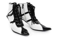 减速火箭花梢的鞋类 免版税库存图片