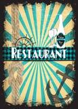 减速火箭菜单的餐馆 库存照片