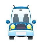 减速火箭蓝色的汽车 库存图片