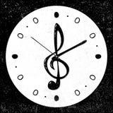 减速火箭,音乐高音谱号时钟概念,传染媒介 免版税图库摄影