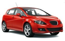 紧凑红色汽车 免版税库存图片