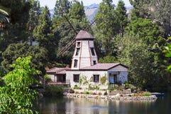 凝思庭院在圣塔蒙尼卡,美国 库存照片
