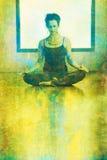 凝思瑜伽 图库摄影