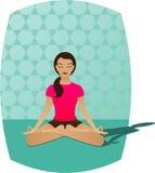凝思瑜伽 免版税库存照片
