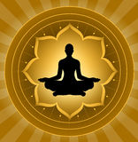 凝思瑜伽 向量例证