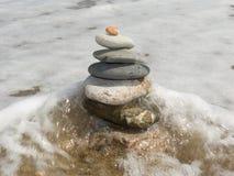 凝思的石头 库存图片