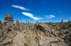 凝灰岩土地,莫诺湖 库存图片
