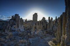 凝灰岩,单音湖 库存照片