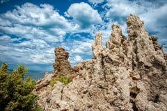 凝灰岩`莫诺湖s  库存图片