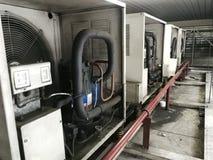 凝聚的单位或冷凝器卷 免版税库存照片